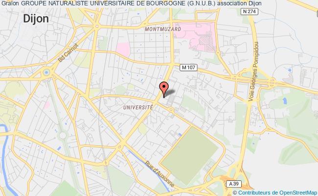 plan association Groupe Naturaliste Universitaire De Bourgogne (g.n.u.b.)