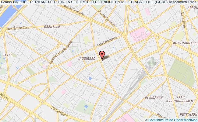 plan association Groupe Permanent Pour La Securite Electrique En Milieu Agricole (gpse) Paris 15e