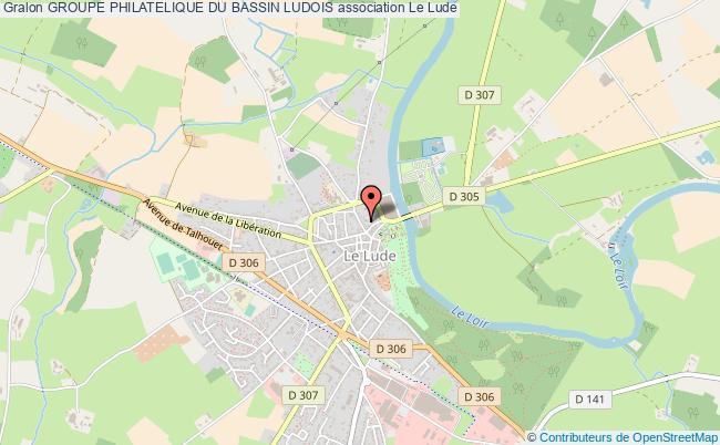 plan association Groupe Philatelique Du Bassin Ludois