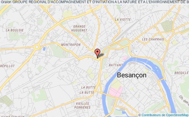 plan association Groupe Regional D'accompagnement Et D'initiation A La Nature Et A L'environnement De Bourgogne-franche-comte