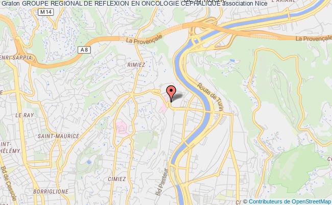 plan association Groupe Regional De Reflexion En Oncologie Cephalique Nice