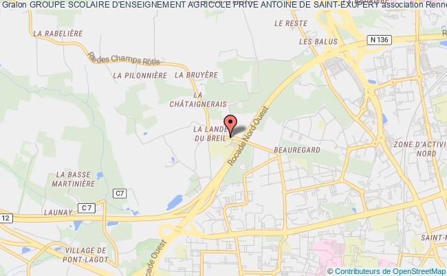 plan association Groupe Scolaire D'enseignement Agricole Prive Antoine De Saint-exupery - Site Pier Giorgio Frassati