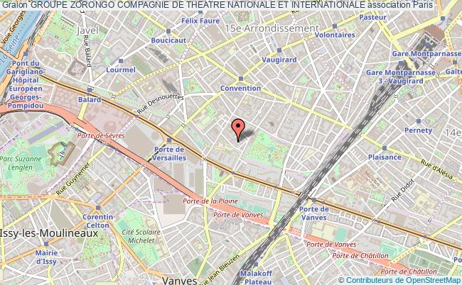 plan association Groupe Zorongo Compagnie De Theatre Nationale Et Internationale