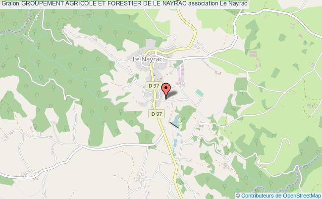 plan association Groupement Agricole Et Forestier De Le Nayrac