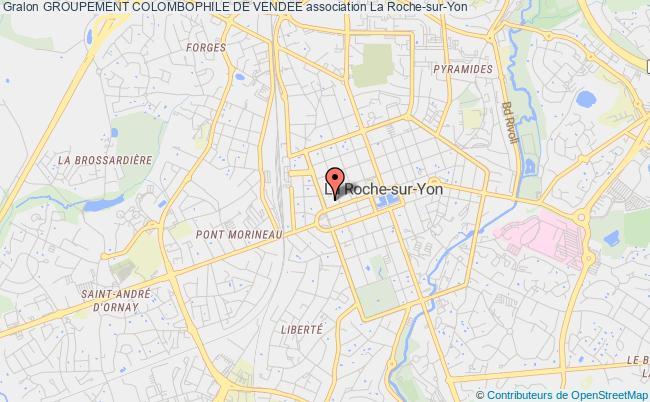 plan association Groupement Colombophile De Vendee Roche-sur-Yon