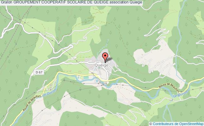 plan association Groupement Cooperatif Scolaire De Queige Queige