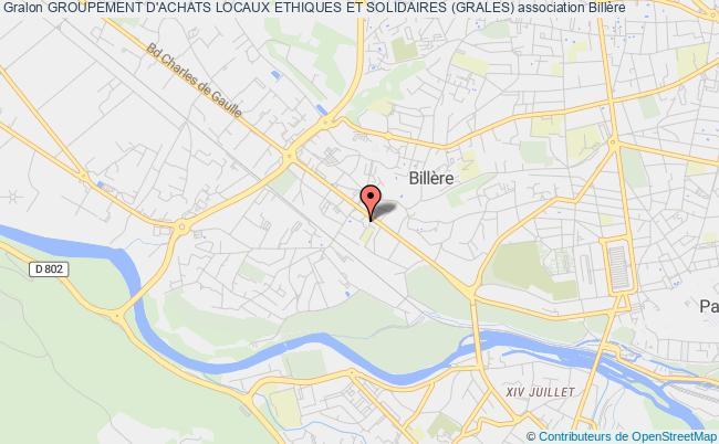 plan association Groupement D'achats Locaux Ethiques Et Solidaires (grales)