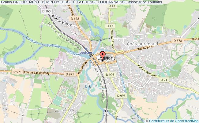 plan association Groupement D'employeurs De La Bresse Louhannaisse