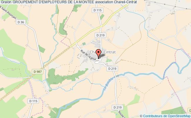 plan association Groupement D'employeurs De La Montee Chareil-Cintrat