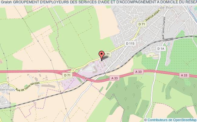 plan association Groupement D'employeurs Des Services D'aide Et D'accompagnement A Domicile Du Reseau Admr De Meurthe Et Moselle (ge Saad Admr 54)