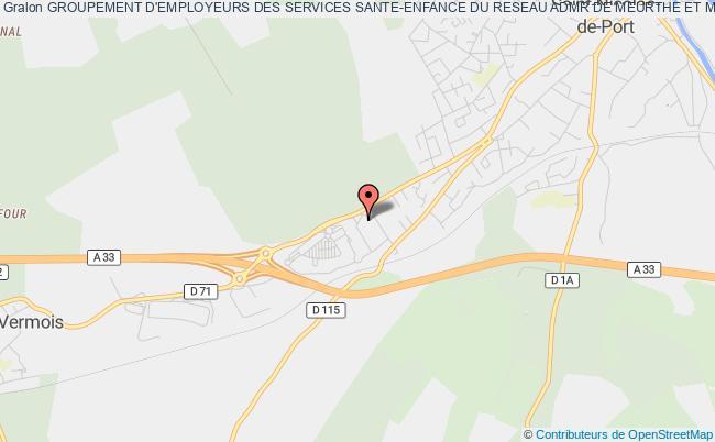 plan association Groupement D'employeurs Des Services Sante-enfance Du Reseau Admr De Meurthe Et Moselle (ge Sante Enfance Admr 54)