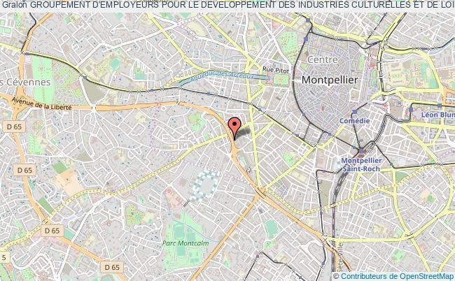 plan association Groupement D'employeurs Pour Le Developpement Des Industries Culturelles Et De Loisirs - Gedic Montpellier