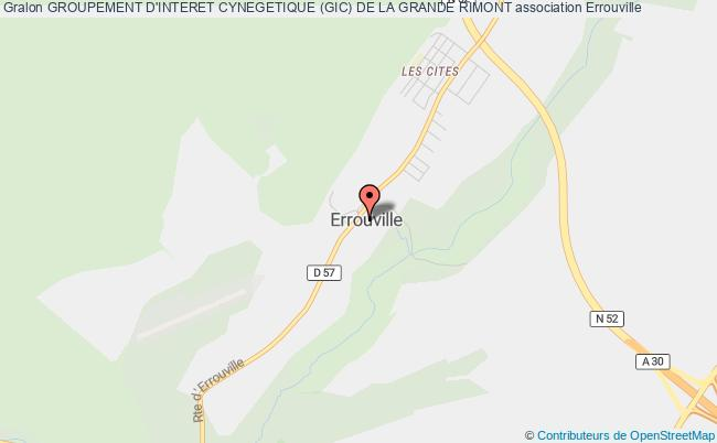 plan association Groupement D'interet Cynegetique (gic) De La Grande Rimont