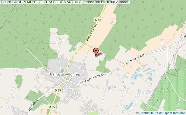 plan association Groupement De Chasse Des Arthuis
