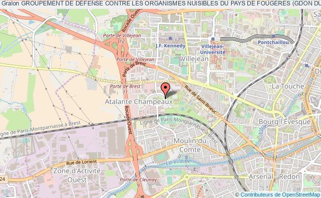 plan association Groupement De DÉfense Contre Les Organismes Nuisibles Du Pays De FougÈres (gdon Du Pays De Fougeres)