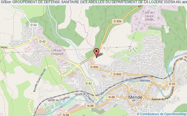 plan association Groupement De Defense Sanitaire Des Abeilles Du Departement De La Lozere (gdsa 48)