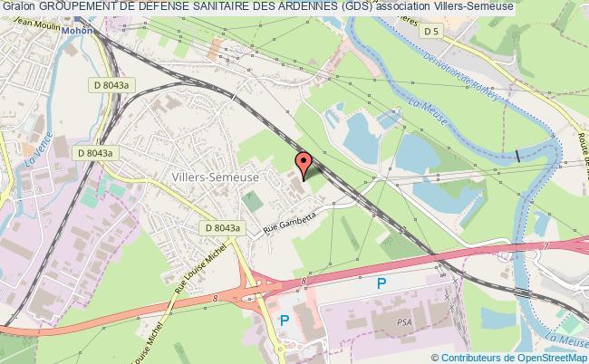 plan association Groupement De Defense Sanitaire Des Ardennes (gds)