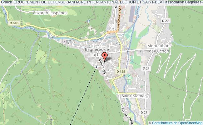 plan association Groupement De Defense Sanitaire Intercantonal Luchon Et Saint-beat Bagnères-de-Luchon