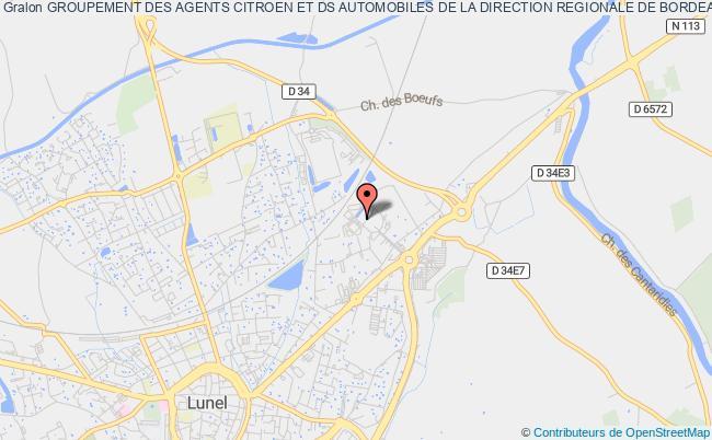 plan association Groupement Des Agents Citroen Et Ds Automobiles De La Direction Regionale De Bordeaux