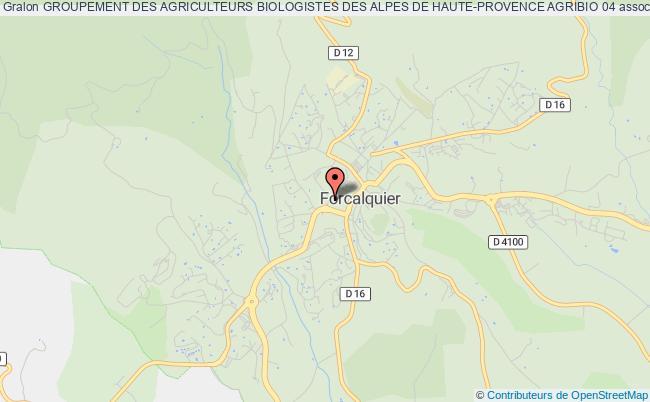 plan association Groupement Des Agriculteurs Biologistes Des Alpes De Haute-provence Agribio 04
