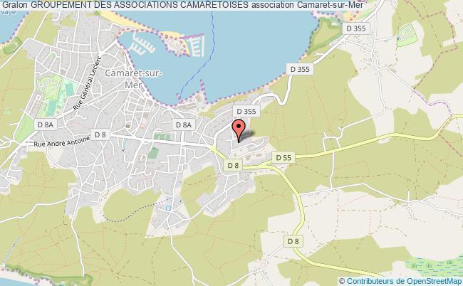 plan association Groupement Des Associations Camaretoises