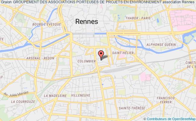 plan association Groupement Des Associations Porteuses De Projets En Environnement Rennes