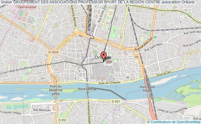 plan association Groupement Des Associations Profession Sport De La Region Centre
