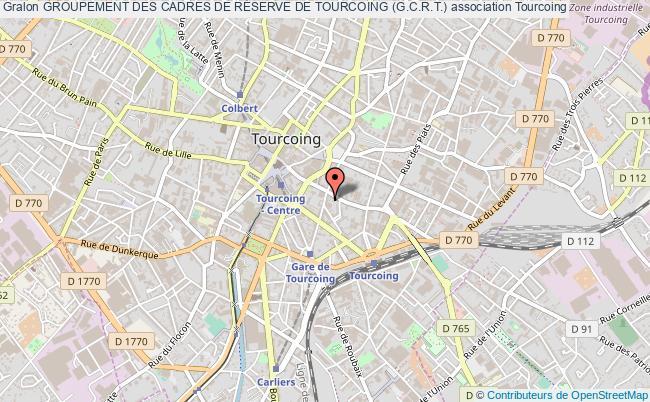 plan association Groupement Des Cadres De RÉserve De Tourcoing (g.c.r.t.) Tourcoing