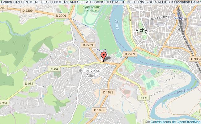 plan association Groupement Des Commercants Et Artisans Du Bas De Bellerive-sur-allier