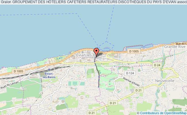 plan association Groupement Des HÔteliers Cafetiers Restaurateurs DiscothÈques Du Pays D'evian