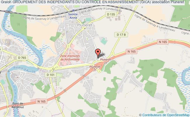 plan association Groupement Des Independants Du Controle En Assainissement (gica)