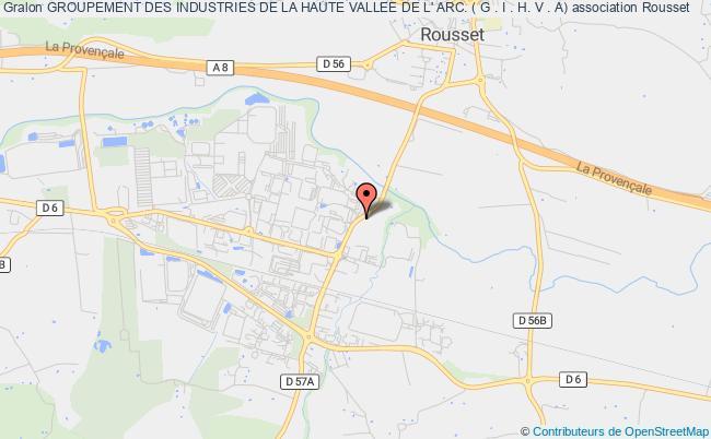 plan association Groupement Des Industries De La Haute Vallee De L' Arc. ( G . I . H. V . A)