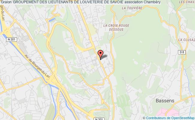 plan association Groupement Des Lieutenants De Louveterie De Savoie