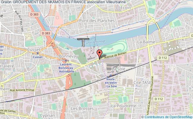 plan association Groupement Des Nkamois En France