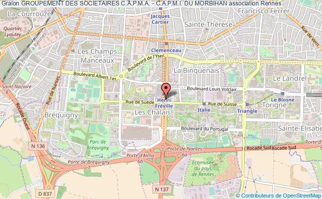 plan association Groupement Des Societaires C.a.p.m.a. - C.a.p.m.i. Du Morbihan