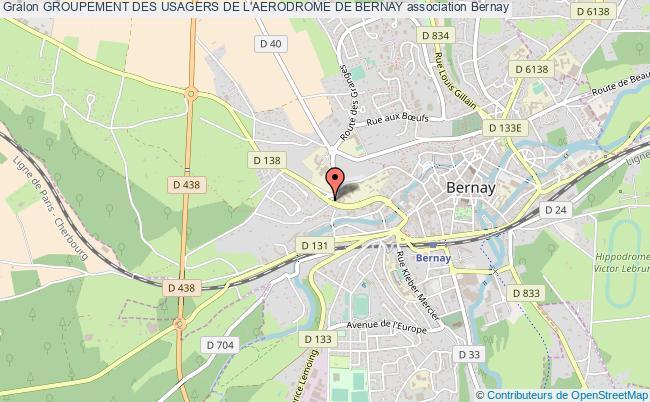 plan association Groupement Des Usagers De L'aerodrome De Bernay