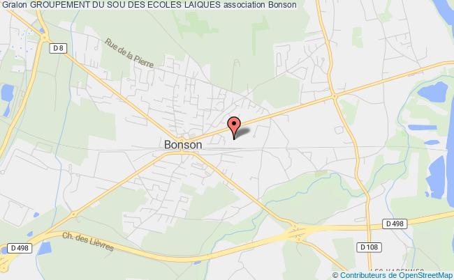 plan association Groupement Du Sou Des Ecoles Laiques Bonson