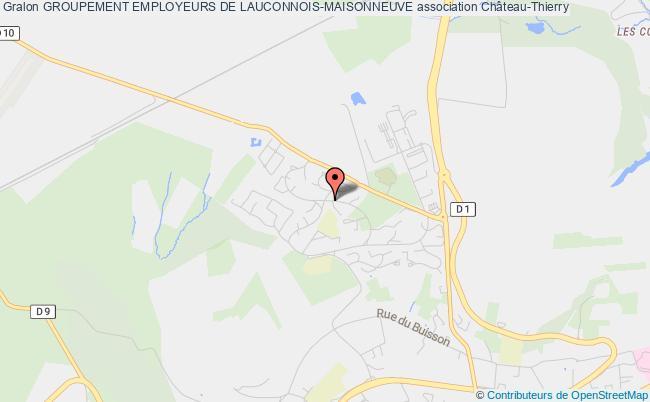 plan association Groupement Employeurs De Lauconnois-maisonneuve