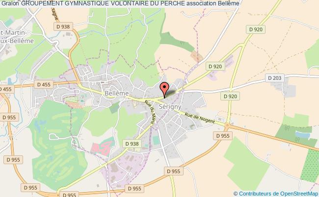 plan association Groupement Gymnastique Volontaire Du Perche