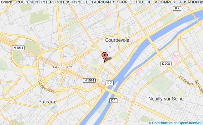 plan association Groupement Interprofessionnel De Fabricants Pour L' Etude De La Commercialisation Courbevoie