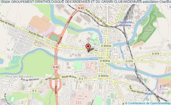 plan association Groupement Ornithologique Des Ardennes Et Du Canari Club Ardennais