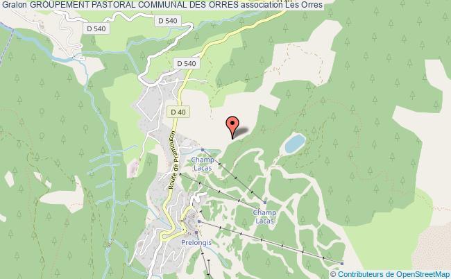 plan association Groupement Pastoral Communal Des Orres Les   Orres