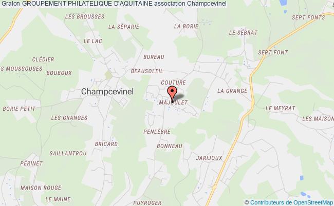 plan association Groupement Philatelique D'aquitaine