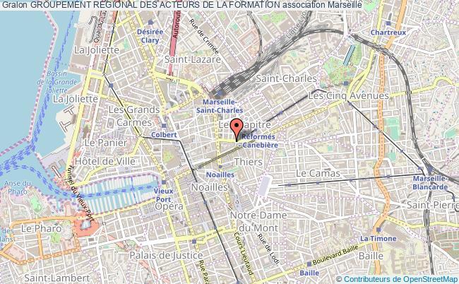 plan association Groupement Regional Des Acteurs De La Formation Marseille