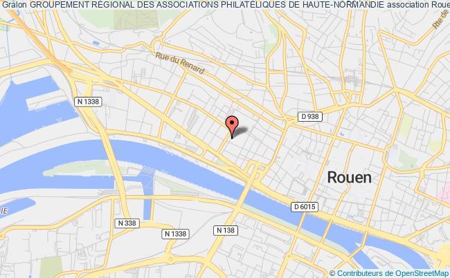plan association Groupement RÉgional Des Associations PhilatÉliques De Haute-normandie Rouen
