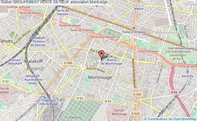 plan association Groupement Vente De Neuf Montrouge Cedex