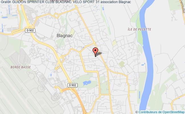 plan association Guidon Sprinter Club Blagnac Velo Sport 31
