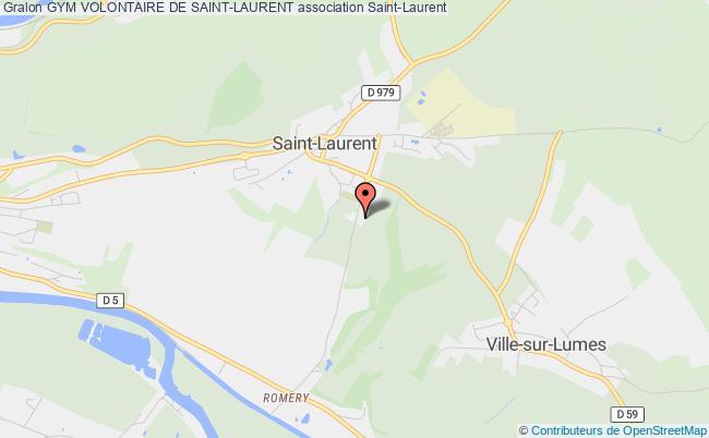plan association Gym Volontaire De Saint-laurent