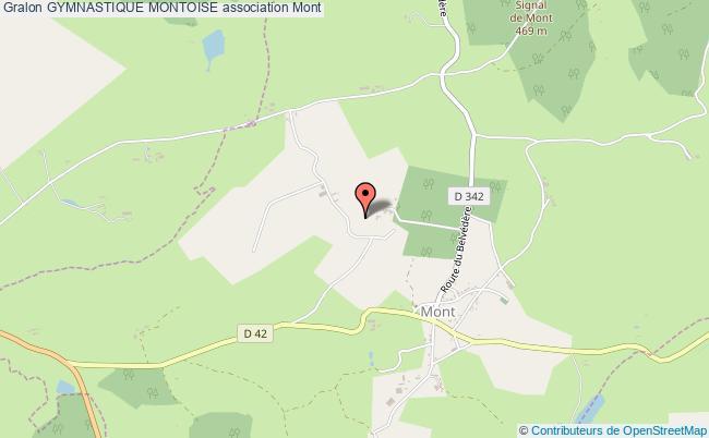 plan association Gymnastique Montoise