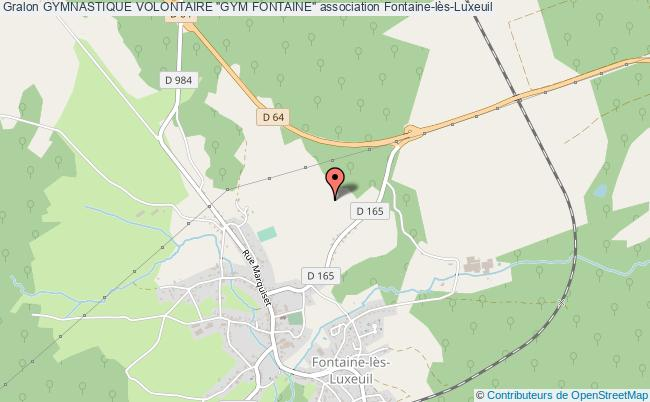 "plan association Gymnastique Volontaire ""gym Fontaine"""